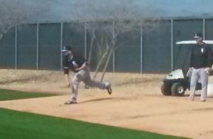 Jesse Crain realizó su segunda sesión de bullpen. Primera vez en más de un año que hace dos trabajos en el bullpen con solo un día de por medio