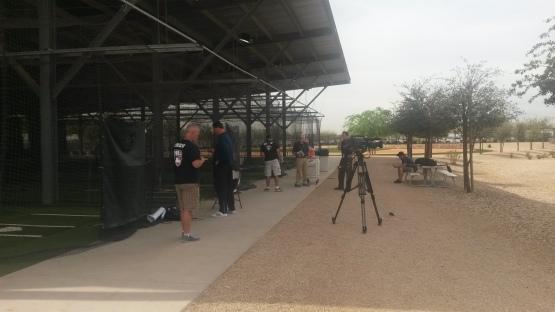 El crew de MLB Network, con Dan Plesac y Peter Gammons